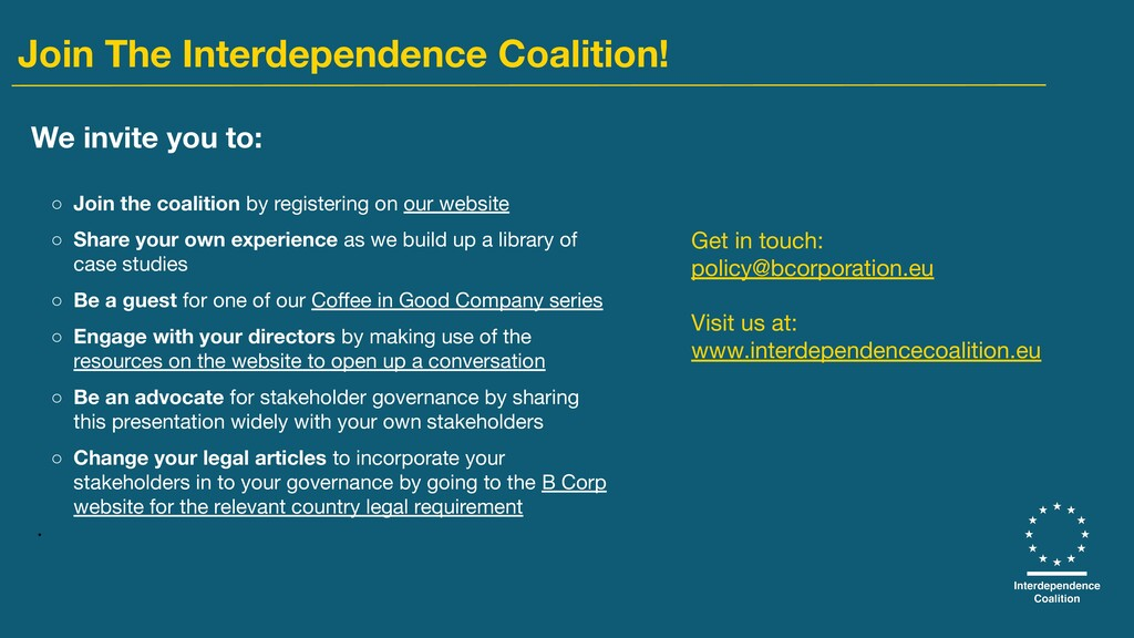 We invite you to: ○ Join the coalition by regis...