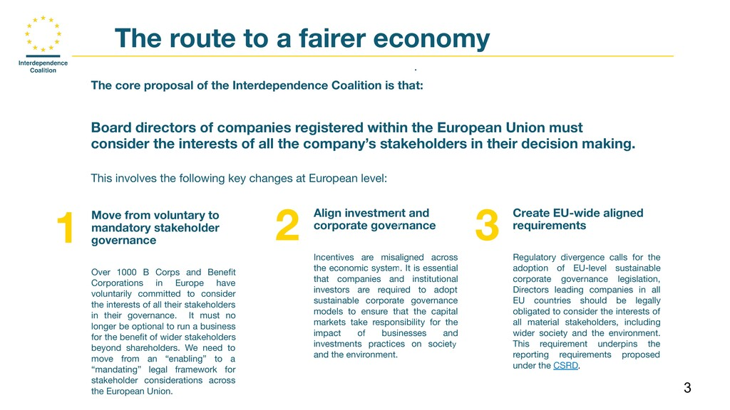 3 The route to a fairer economy . The core prop...