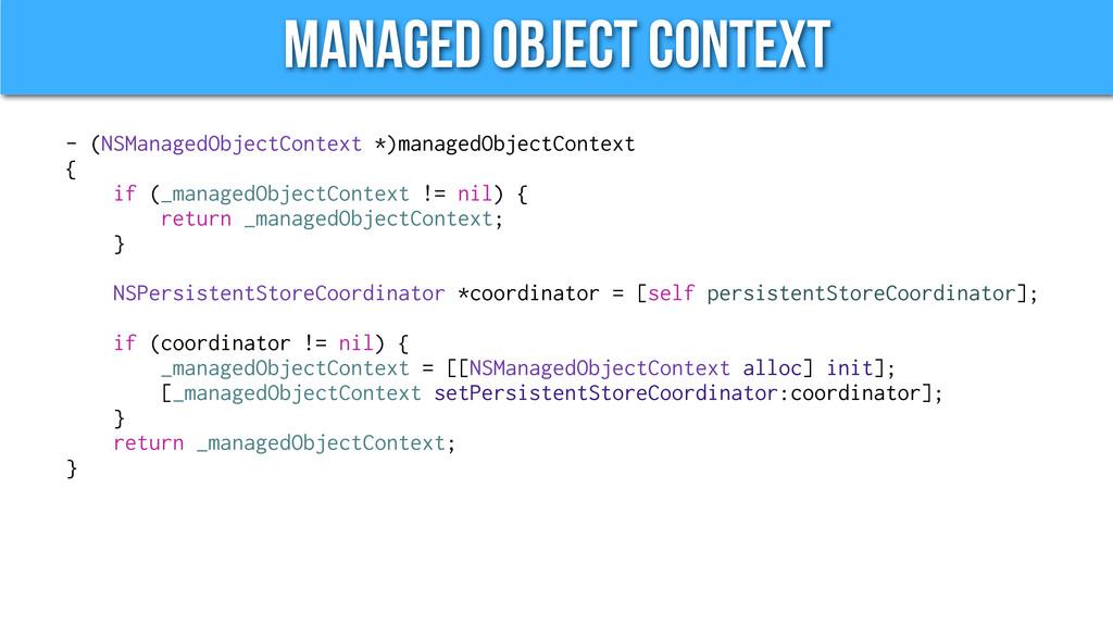 Managed Object Context - (NSManagedObjectContex...