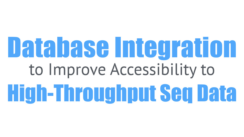 Database Integration to Improve Accessibility t...