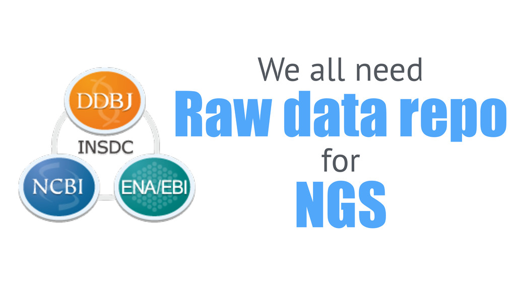 We all need Raw data repo for NGS