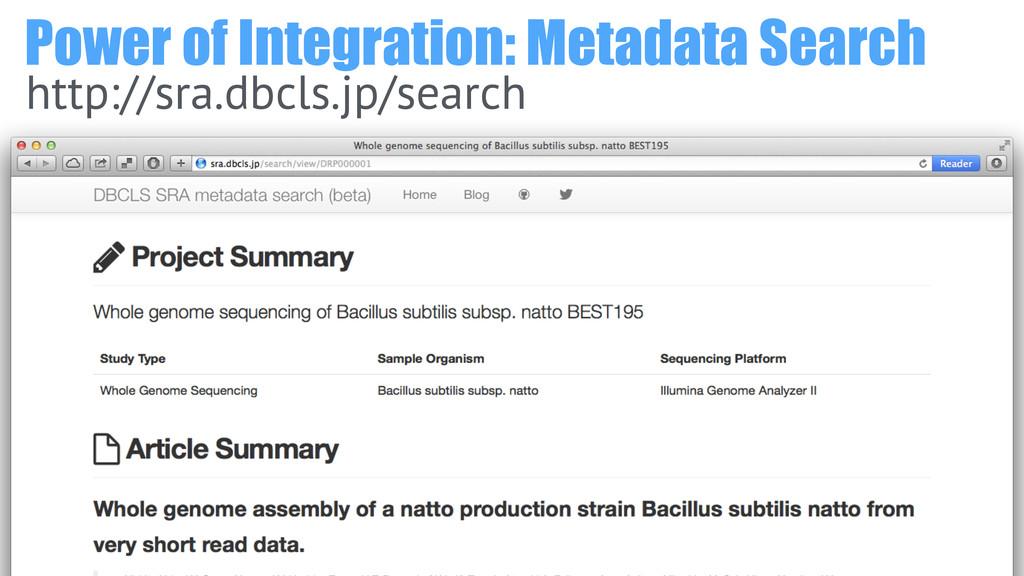 Power of Integration: Metadata Search http://sr...
