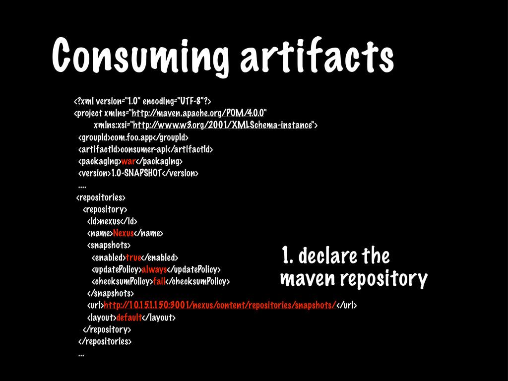 """Consuming artifacts <?xml version=""""1.0"""" encodin..."""