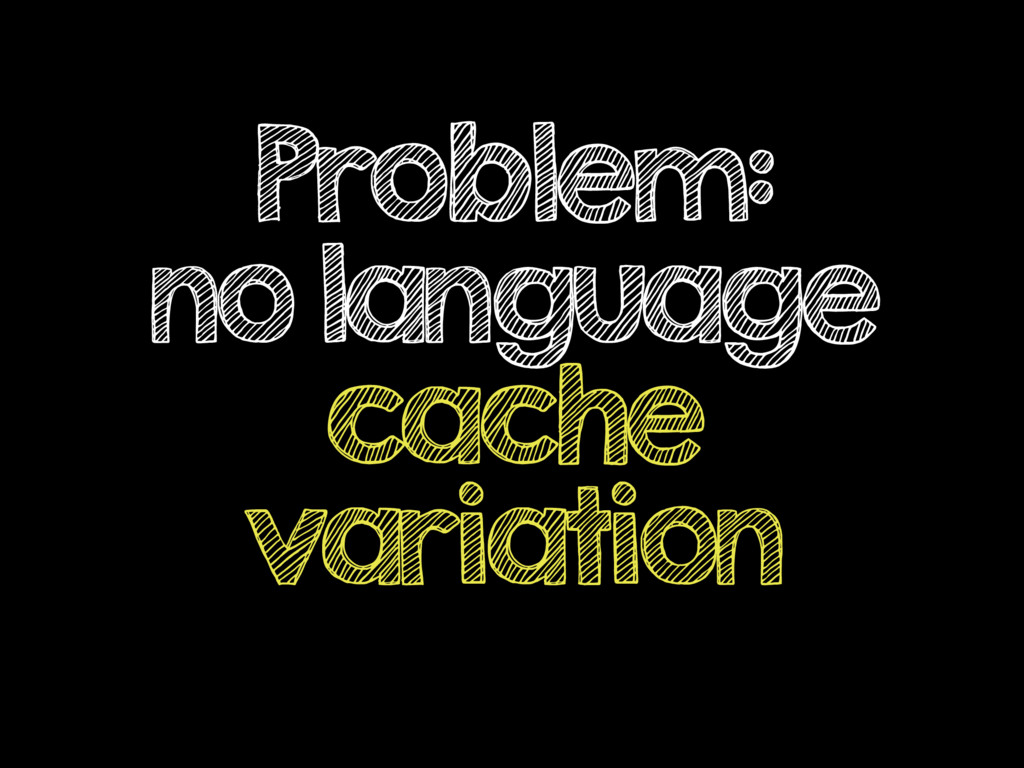 Problem: no language cache variation