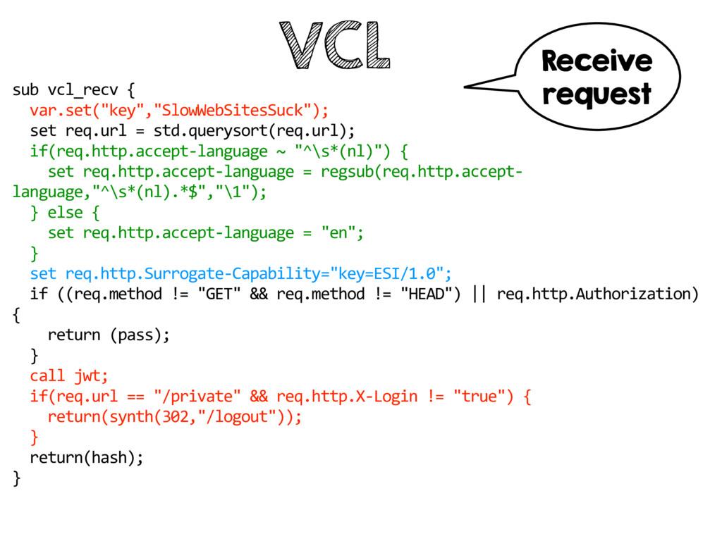 """VCL sub vcl_recv { var.set(""""key"""",""""SlowWebSites..."""