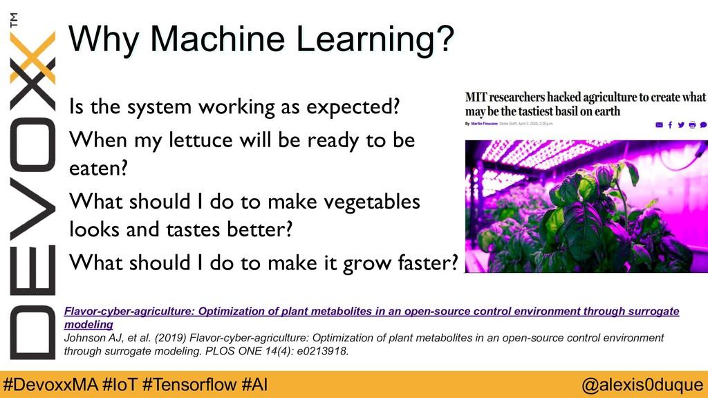 @alexis0duque #DevoxxMA #IoT #Tensorflow #AI Wh...