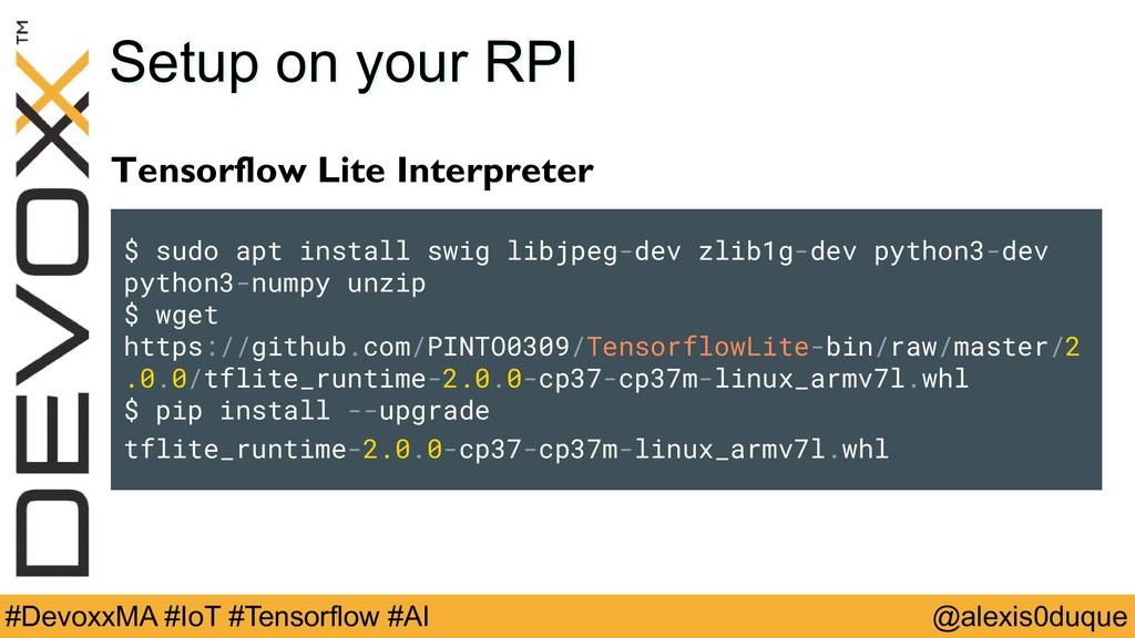 @alexis0duque #DevoxxMA #IoT #Tensorflow #AI Se...