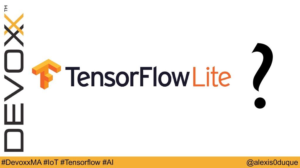@alexis0duque #DevoxxMA #IoT #Tensorflow #AI ?