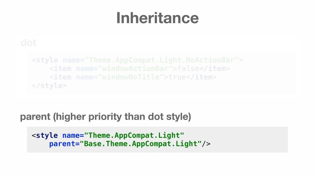 "Inheritance <style name=""Theme.AppCompat.Light""..."
