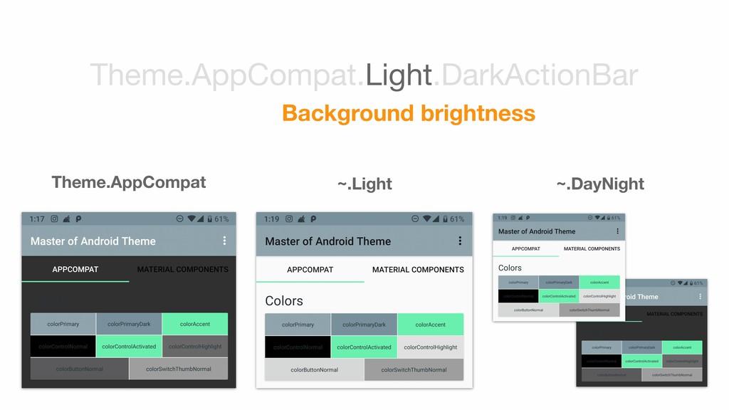 Theme.AppCompat ~.Light ~.DayNight Theme.AppCom...