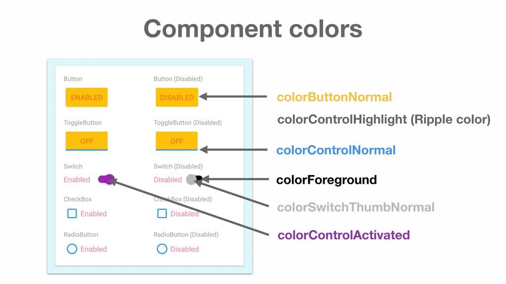 Component colors colorButtonNormal colorControl...
