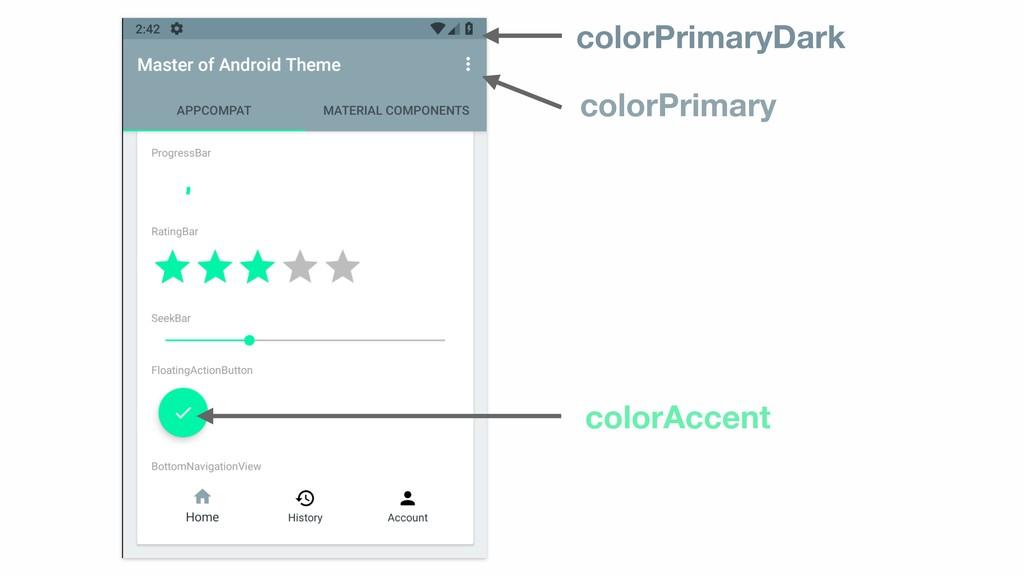 colorPrimary colorPrimaryDark colorAccent