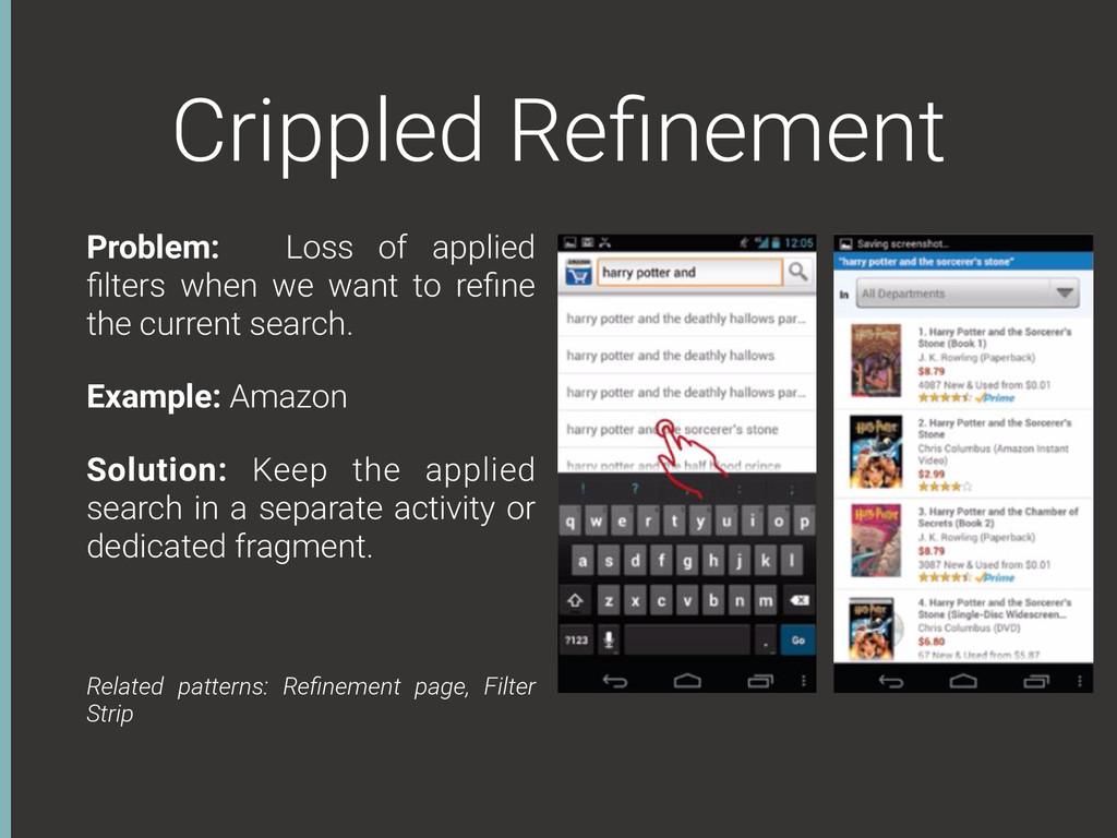 Crippled Refinement Problem: Loss of applied filt...