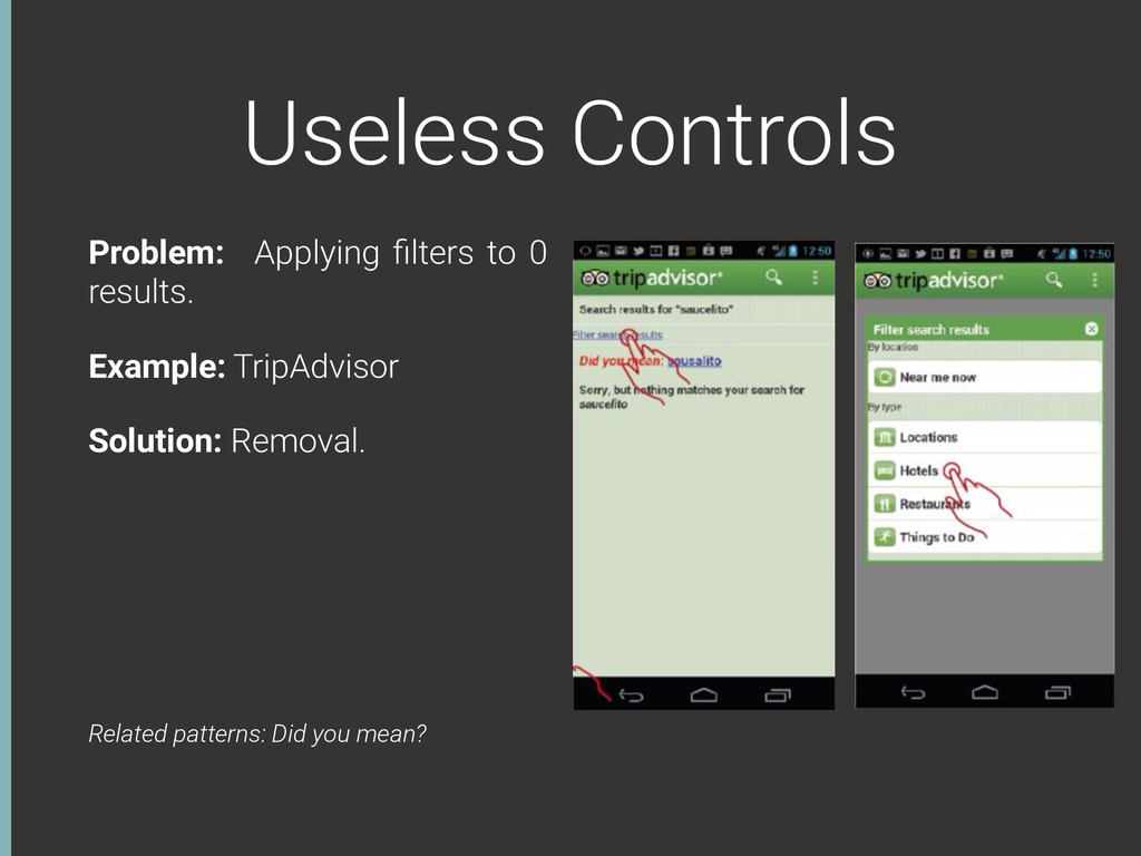 Useless Controls Problem: Applying filters to 0 ...