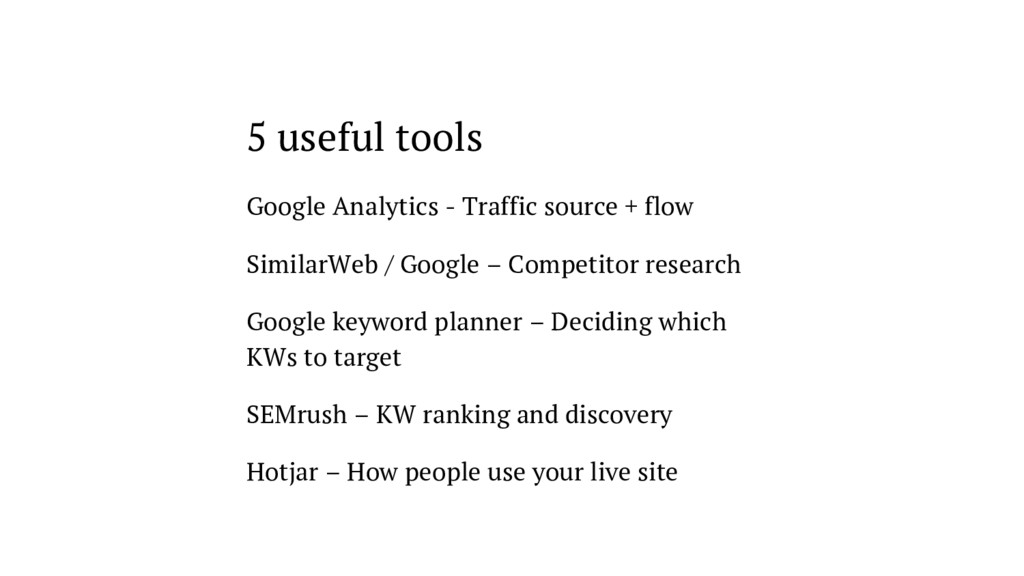 5 useful tools Google Analytics - Traffic sourc...