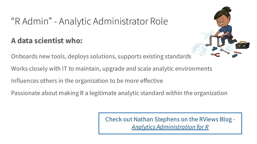 """""""R Admin"""" - Analytic Administrator Role A data ..."""