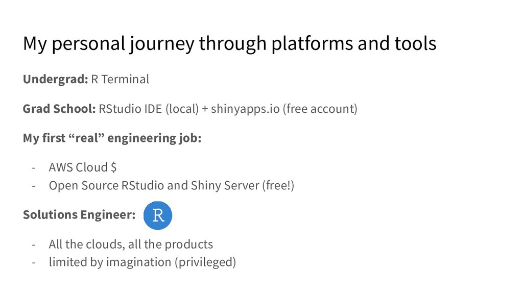 My personal journey through platforms and tools...