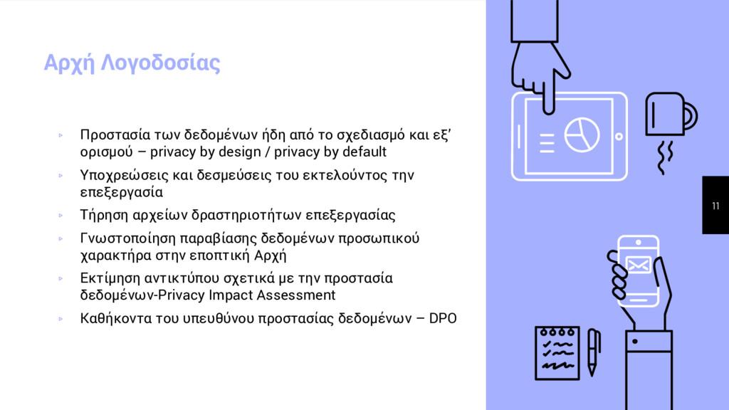 Αρχή Λογοδοσίας ▹ Προστασία των δεδομένων ήδη α...