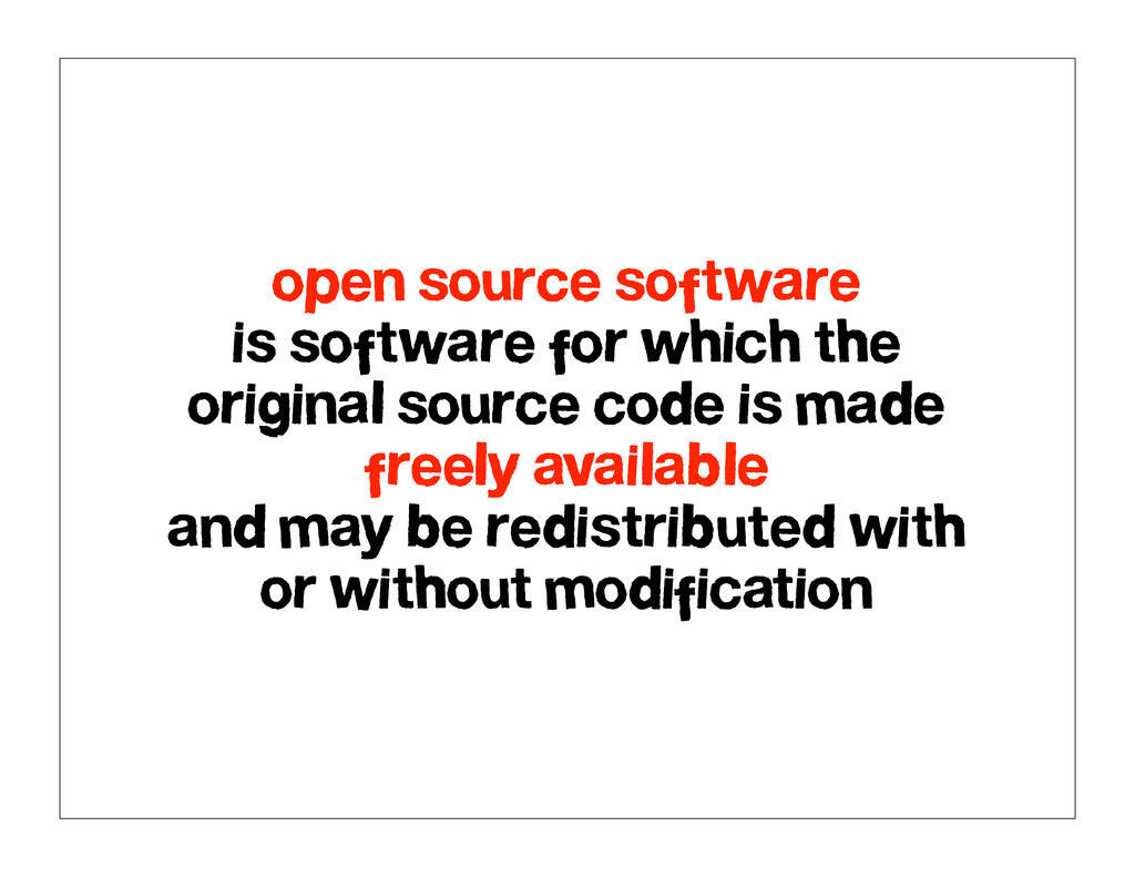 open source software is software for which the ...