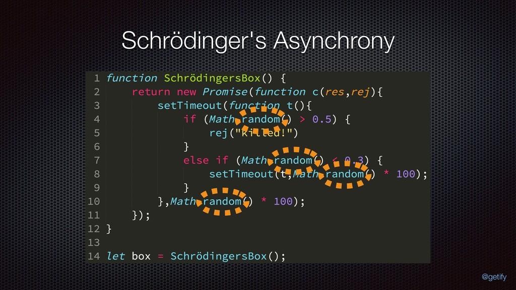 Schrödinger's Asynchrony @getify