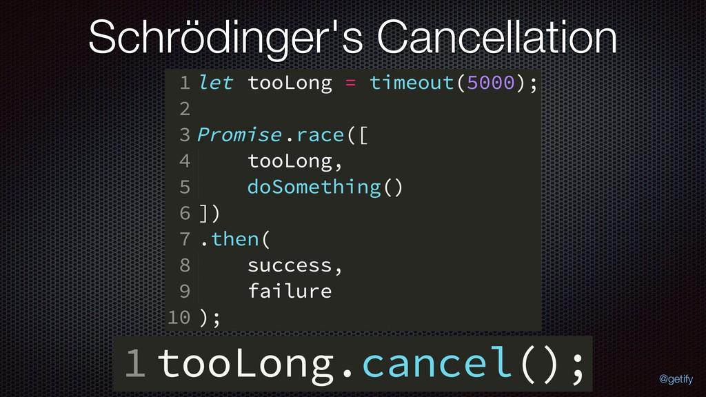 Schrödinger's Cancellation @getify