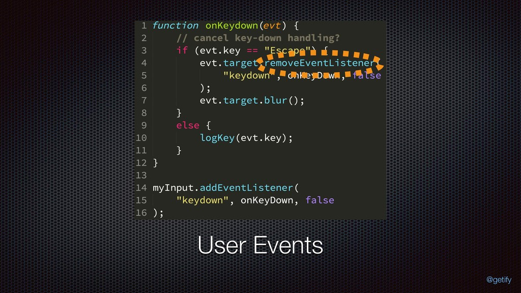 User Events @getify