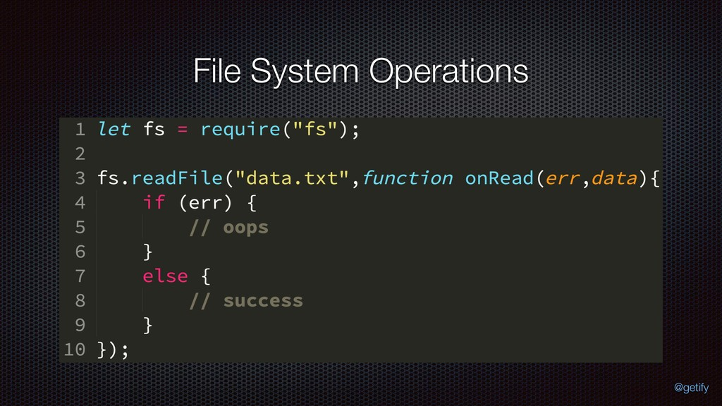 File System Operations @getify
