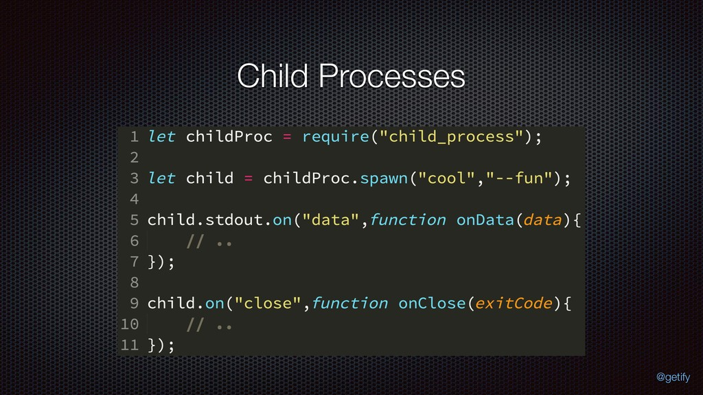 Child Processes @getify