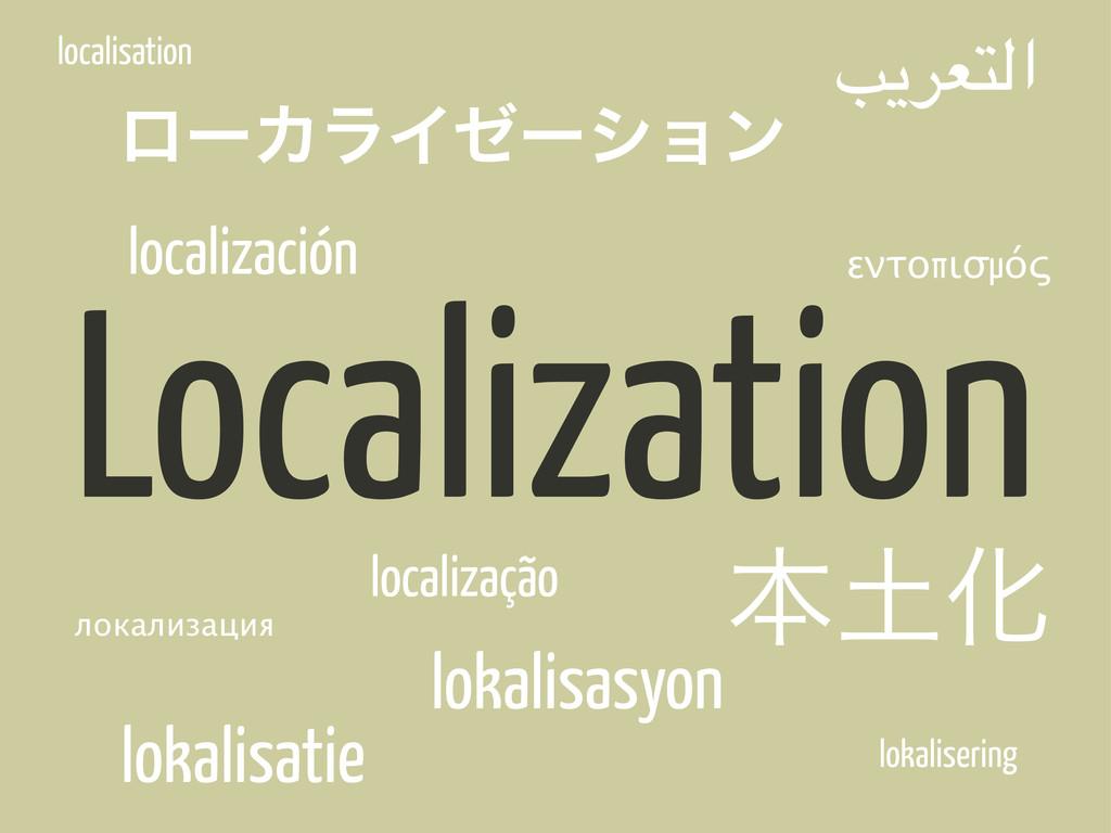 "Localization ຊԽ ϩʔΧϥΠθʔγϣϯ !""#$%&ا локализация..."