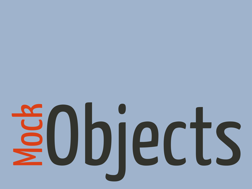 Objects Mock