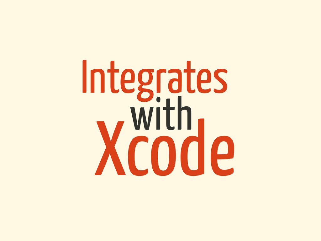 Integrates Xcode with