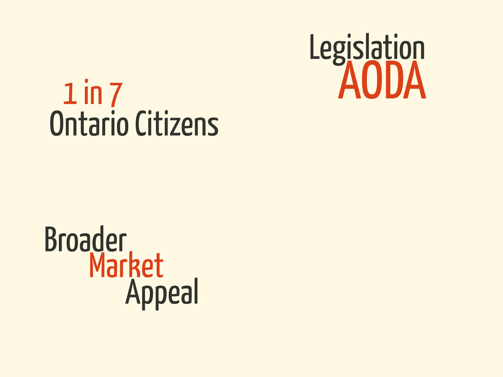 Legislation Ontario Citizens Broader AODA 1 in ...