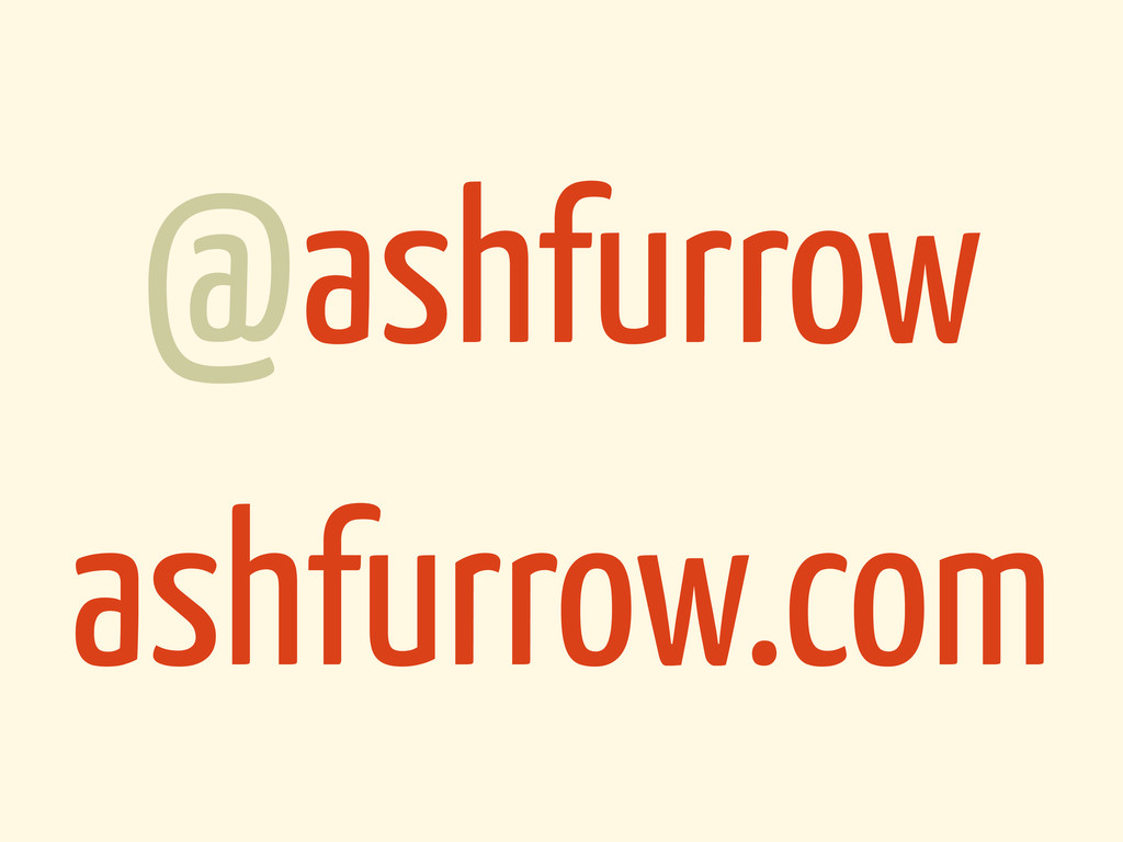 @ashfurrow ashfurrow.com
