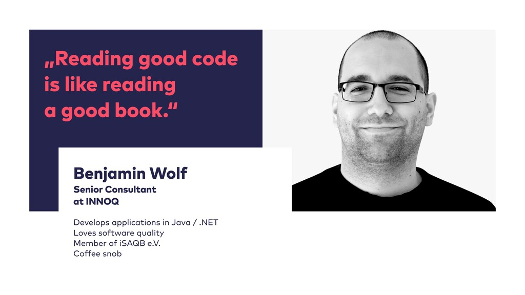"""""""Reading good code is like reading a good book...."""