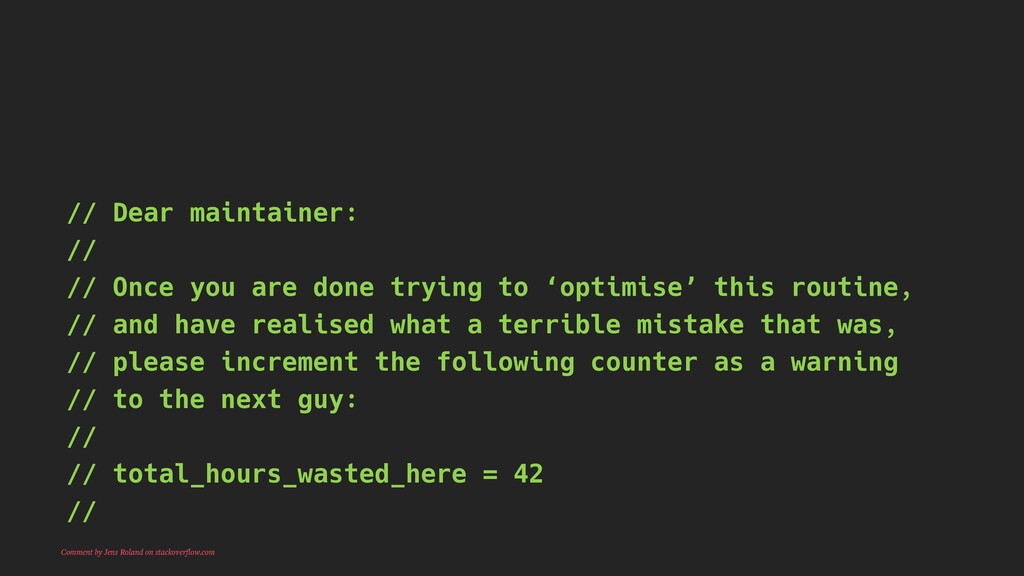 // Dear maintainer: // // Once you are done try...