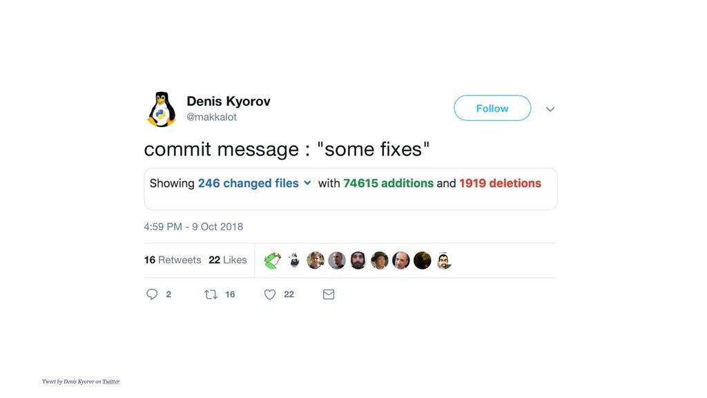 Tweet by Denis Kyorov on Twitter