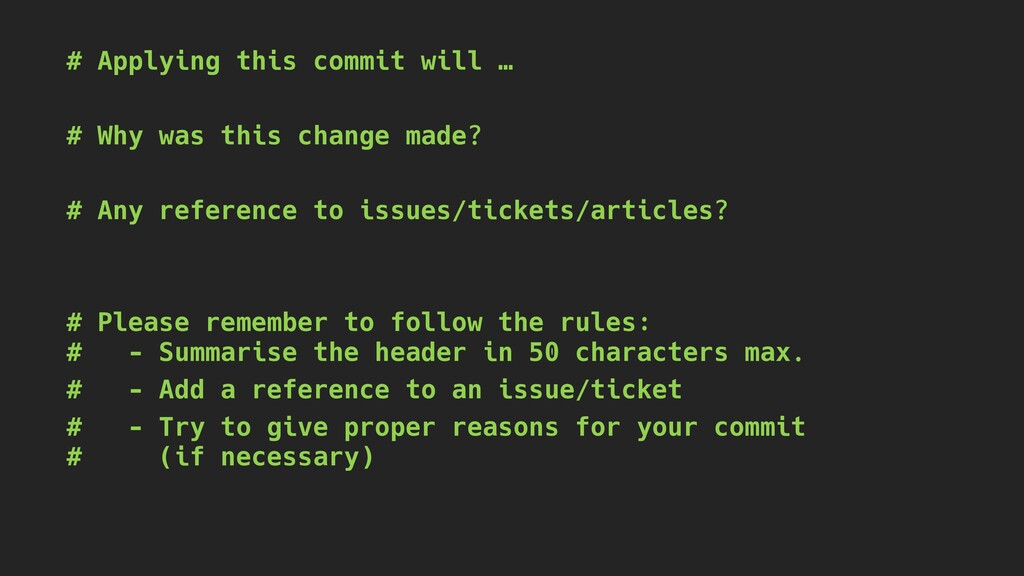 # Applying this commit will … # Why was this ch...