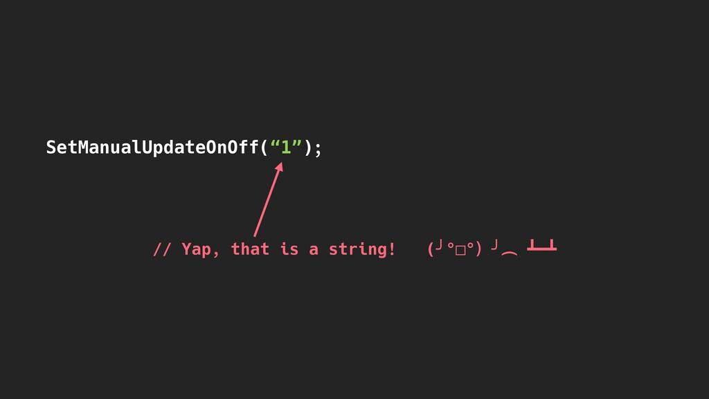 """SetManualUpdateOnOff(""""1""""); // Yap, that is a st..."""
