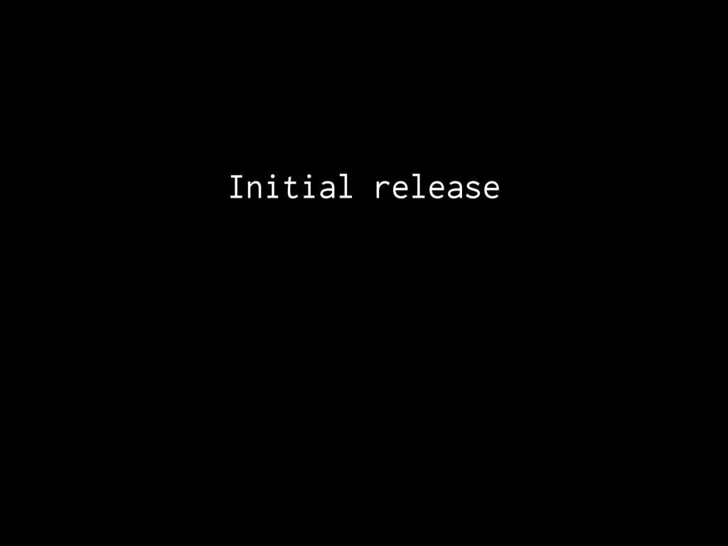 Initial release