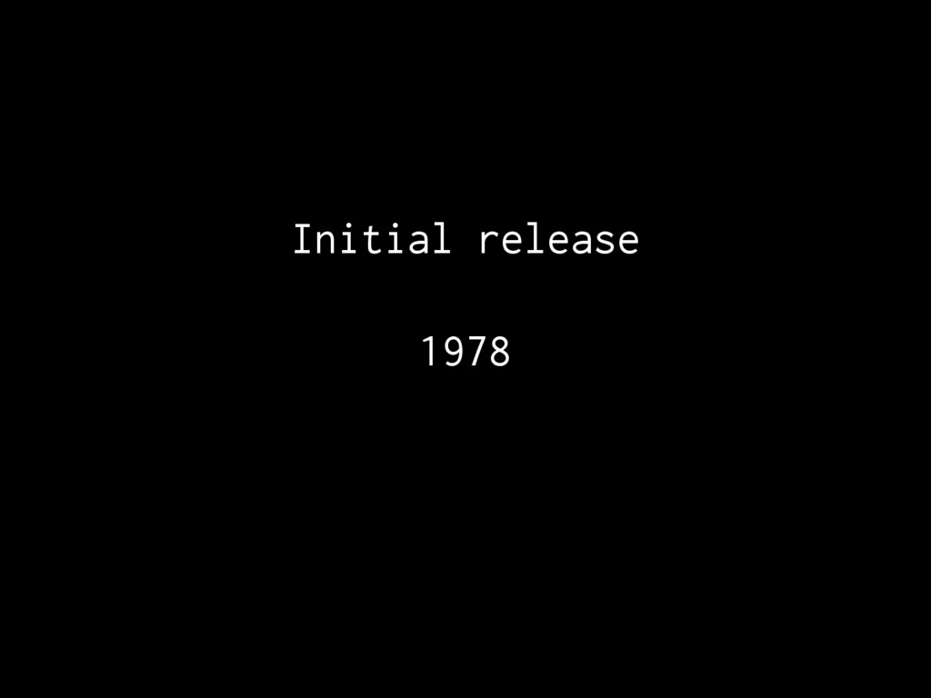Initial release 1978