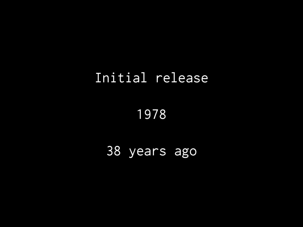 Initial release 1978 38 years ago