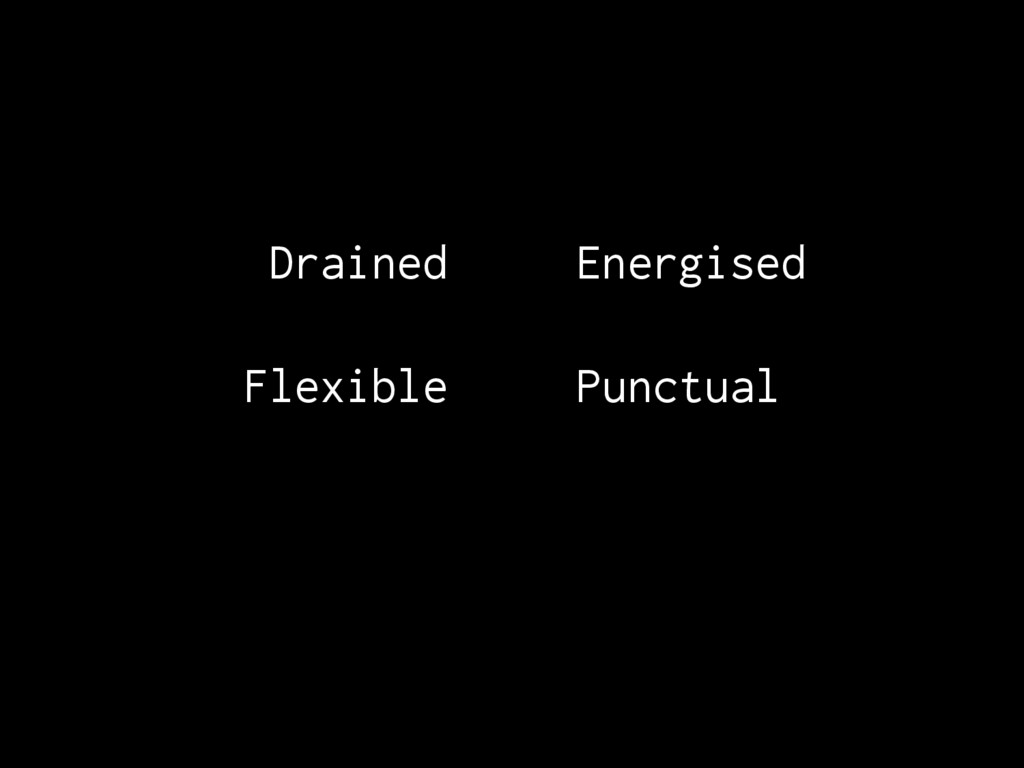 Drained Energised Flexible Punctual
