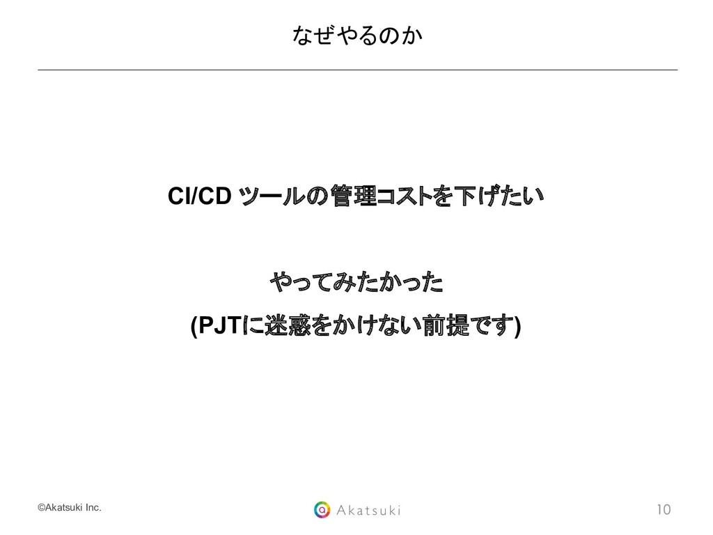 ©Akatsuki Inc. CI/CD ツールの管理コストを下げたい やってみたかった (P...