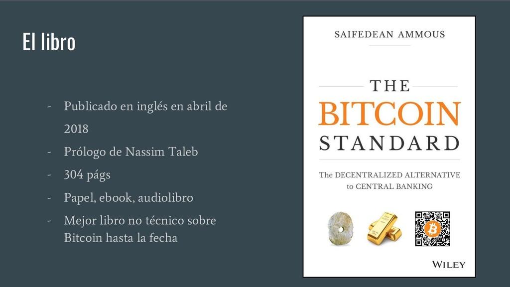 El libro - Publicado en inglés en abril de 2018...