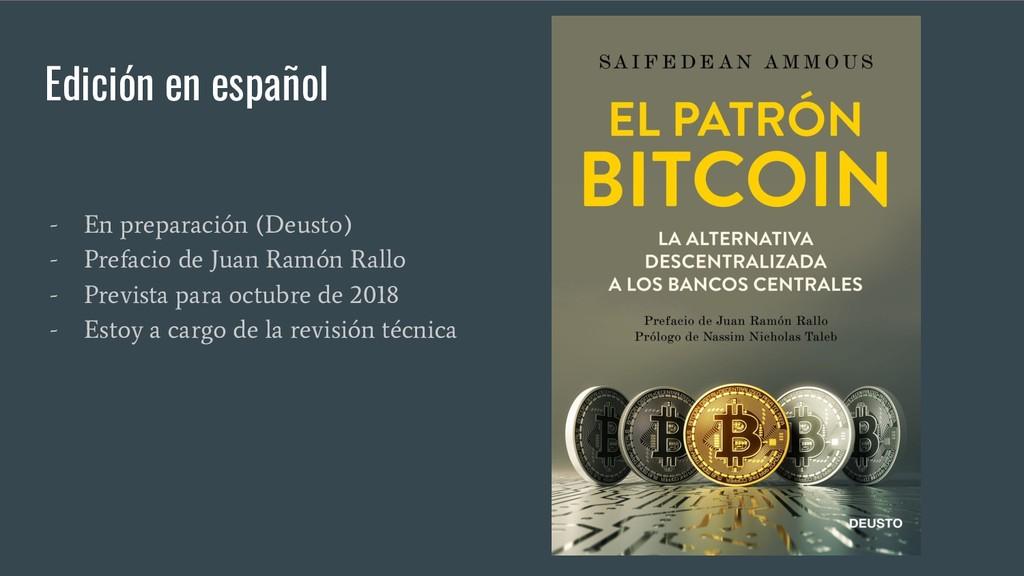 Edición en español - En preparación (Deusto) - ...