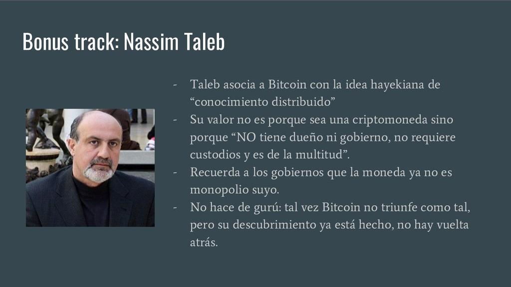 Bonus track: Nassim Taleb - Taleb asocia a Bitc...