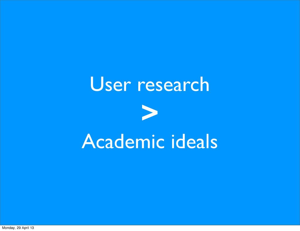User research > Academic ideals Monday, 29 Apri...