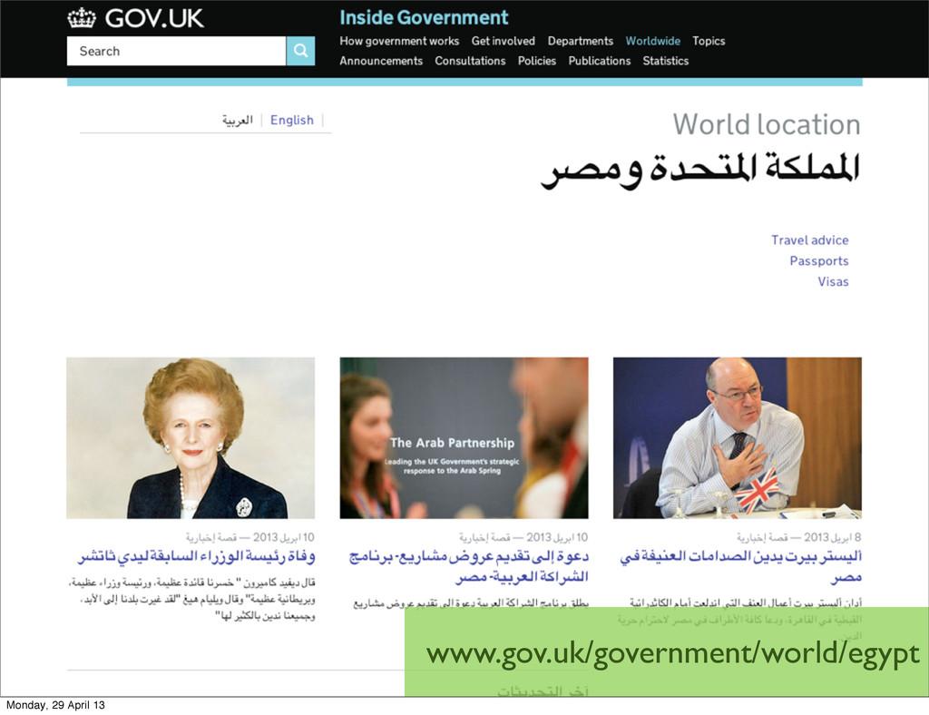 www.gov.uk/government/world/egypt Monday, 29 Ap...