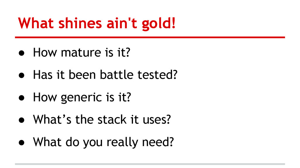 What shines ain't gold! ● How mature is it? ● H...