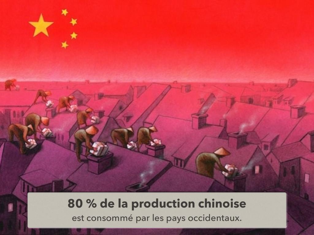 80 % de la production chinoise est consommé par...